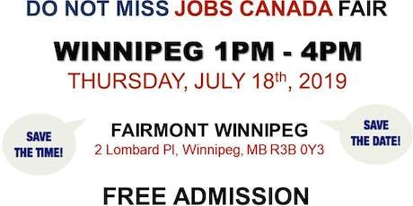 Free: Winnipeg Job Fair – July 18th, 2019 tickets