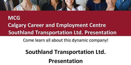 MCG Careers Calgary Career & Employment Centre and Southland Transportation tickets