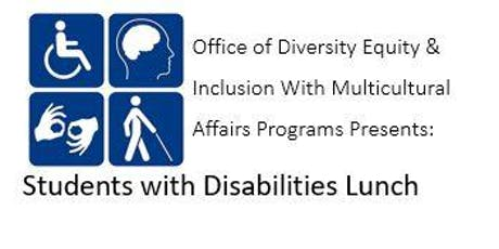 Students with Disabilities Luncheon tickets