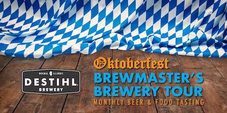 DESTIHL Brewmaster's Tour: Oktoberfest-Themed Beer & Food Tasting tickets