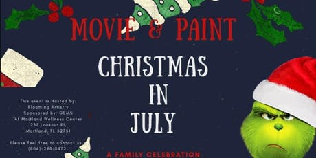 Christmas in July - Movie and Painting tickets