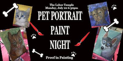 Pet Portrait Paint Night 21+ -Astoria