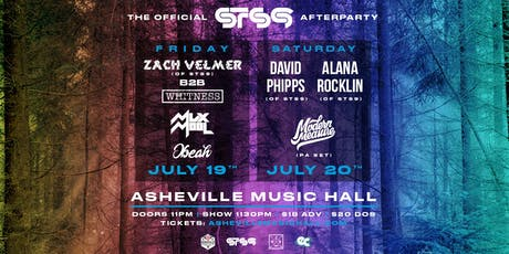 FRIDAY 7/19 : Official STS9 Afterparty w/ Zach Velmer (of STS9), Obeah, Mux Mool & Whitness | Asheville Music Hall tickets