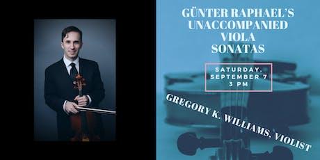 Günter Raphael's Unaccompanied Viola Sonatas tickets