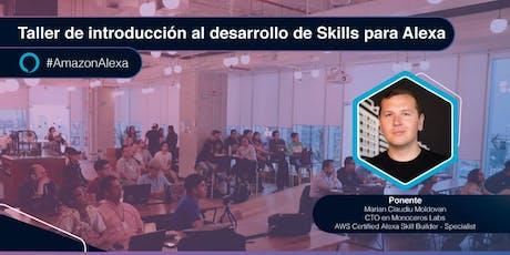 Taller de introducción al desarrollo de Skills para Alexa boletos