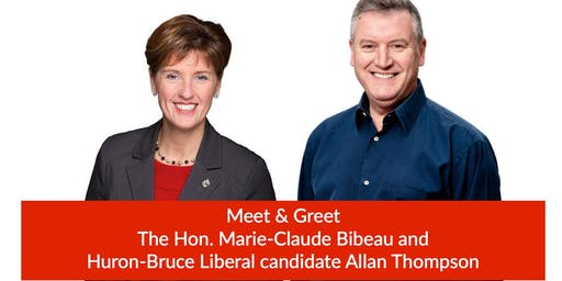 Meet & Greet with Hon. Marie-Claude Bibeau and Allan Thompson