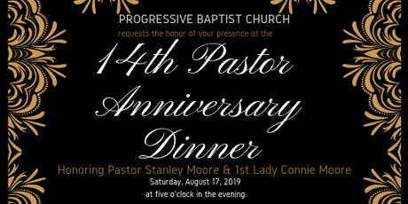 Pastor Moore 14th Anniversary Dinner tickets