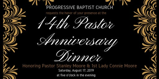 Pastor Moore 14th Anniversary Dinner