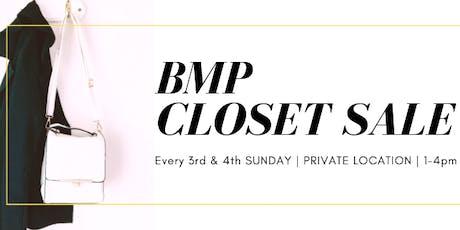 BMP Closet Sale tickets