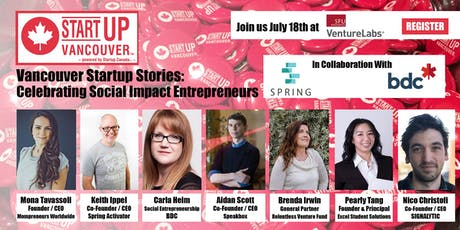 "#VanStartupStories ""Celebrating Social Impact Entrepreneurs / B Corp Basics"" tickets"
