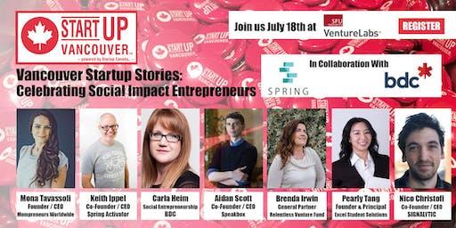 "#VanStartupStories ""Celebrating Social Impact Entrepreneurs / B Corp Basics"""