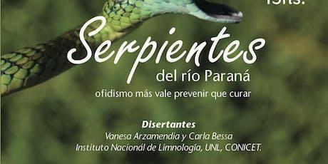 Serpientes del río Paraná  entradas