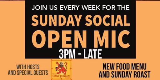 Bank Holiday Sunday Social Open Mic