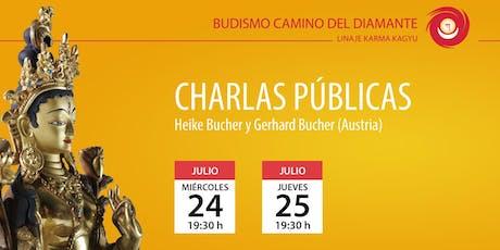 Charla pública: Budismo y meditación por Heike y Gerhard Bucher (Austria) entradas