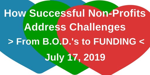 Open Forum & Networking: How Successful Non-Profits Address Challenges: From B.O.D.'s to Funding