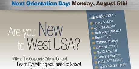 West USA Realty - Chandler Orientation August tickets