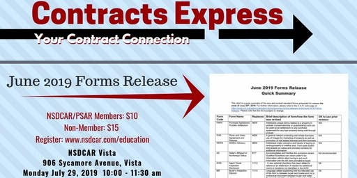 Contracts Express - June 2019 Forms Release