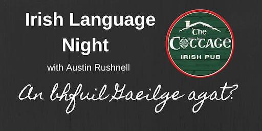 Irish Language Night   The Cottage Irish Pub