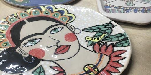 Sip & Create -Clay, Frida and Sangria