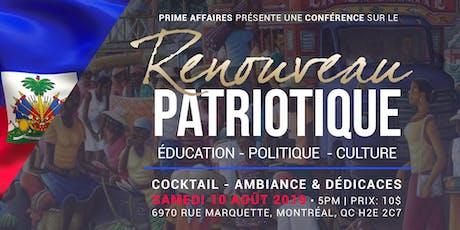Conférence sur le Renouveau Patriotique tickets