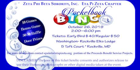Zeta Phi Beta Sorority, Inc., Eta Pi Zeta Chapter presents Pocketbook Bingo tickets
