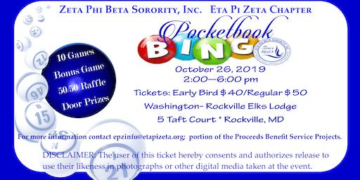 Zeta Phi Beta Sorority, Inc., Eta Pi Zeta Chapter presents Pocketbook Bingo