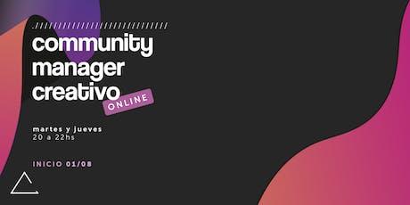 Community Manager Creativo (online) entradas