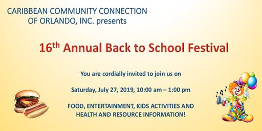 "16TH ANNUAL ""BACK TO SCHOOL DAY FESTIVAL"""