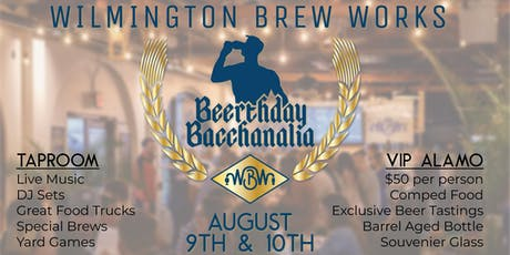 Wilmington Brew Works Beerthday Bacchanalia  tickets
