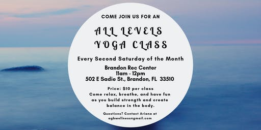 All Levels Yoga Class - Every Second Saturday of the month