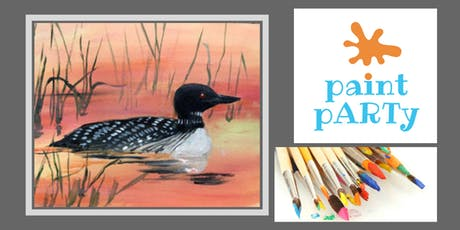 Paint'N'Sip Canvas - Loon - $35 pp tickets