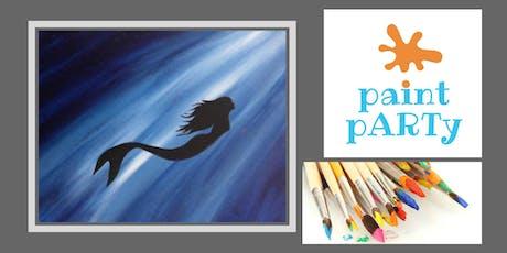 Paint'N'Sip Canvas - Mermaid Silhouette - $35 pp tickets