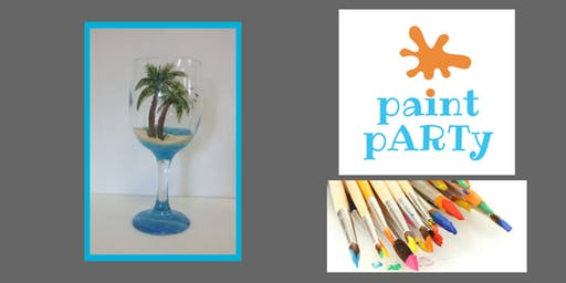 All Ages Paint Party on Two Wine Glasses - Palm Tree - $35 pp