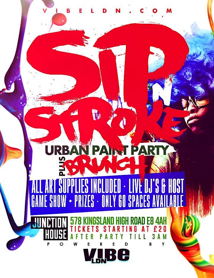 Sip N Stroke | (2pm - 5pm) Pop Up Session | Sip and Paint Party image