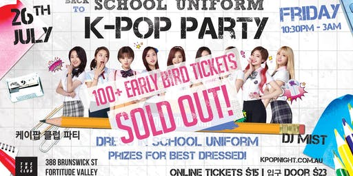 Brisbane School Uniform Kpop Party [Less Than 70 Tickets Left] Friday 26th July 2019