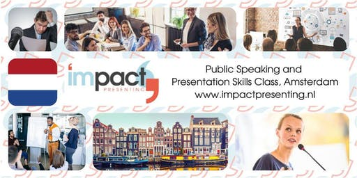 1-Day Amsterdam IMPACT Presenting - Public Speaking and Business Presentations Seminar