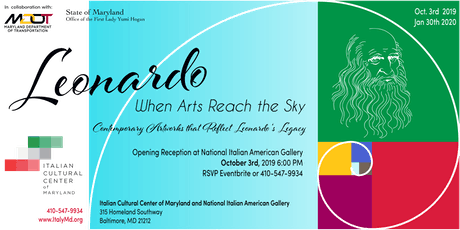 Leonardo, When Arts Reach the Sky Exhibit - Opening Reception tickets