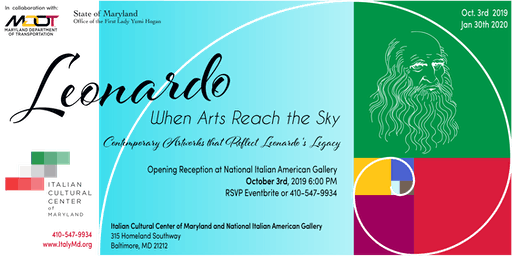 Leonardo, When Arts Reach the Sky Exhibit - Opening Reception