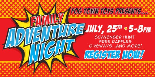 Family Adventure Night: July 25, 2019; Mythical Creatures Unite!