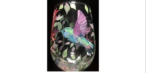 Wednesday Night Hummingbird Wine Glass Paint Night!