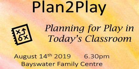 Planning for Play in Today's Classroom tickets