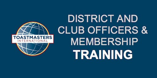 District 49: First Round Club Officers & Membership Training, July 20, 2019