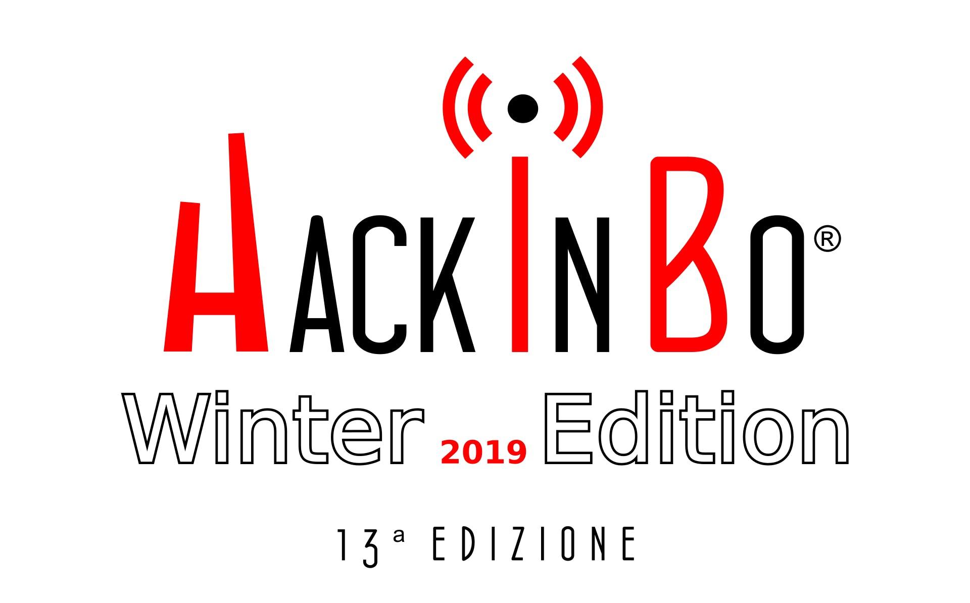HackInBo - Sicurezza all'ombra delle Torri Winter Edition 2019