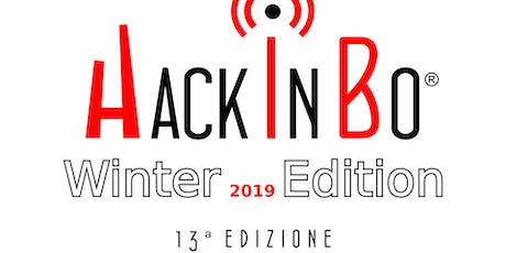 """HackInBo - Sicurezza all'ombra delle Torri"" Winter Edition 2019 tickets"
