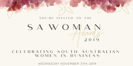 SA Woman Awards Dinner 2019 tickets