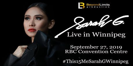 SARAH G: Live in Winnipeg tickets
