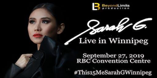 SARAH G: Live in Winnipeg