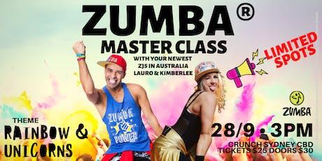 Zumba Master Class ZJs Kimberlee and Lauro (Sydney) tickets
