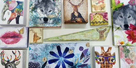 Make Contemporary Wall Art with Upcycled World tickets