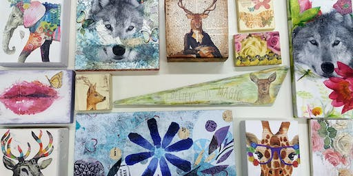 Make Contemporary Wall Art with Upcycled World